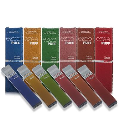 Ezee Puff E-cigarette Sample Set Nicotine Free (6 Pieces)